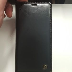"""unbranded Accessories - Wallet case for iphone xs max 6.5"""" black leather"""
